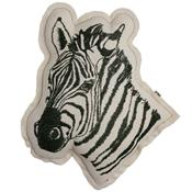 Embroidered cushion - zebra