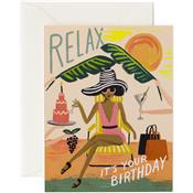 Carte Anniversaire - Relax