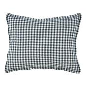 Cushion cover Anthracite Gingham