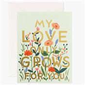 Carte message - Love grows