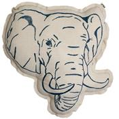 Embroidered cushion - elephant