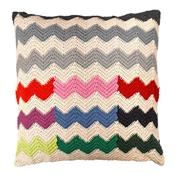 Zig-zag Cushion Organic cotton