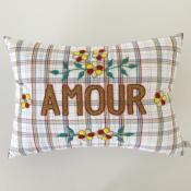 Embroidered Cushion Message CSAO - Amour