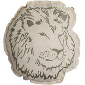 Embroidery cushion - lion