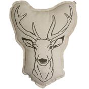 Embroidered cushion - deer
