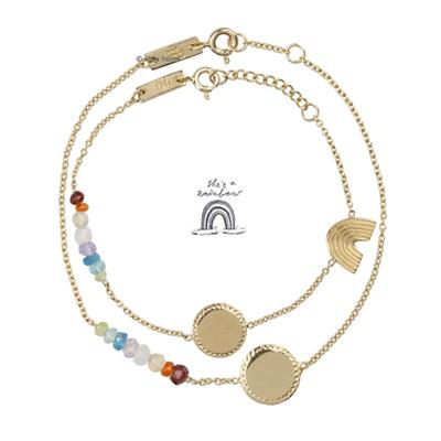 Coffret bracelets Rainbow - or